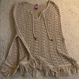Boho woven shawl